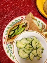 13. Harissa Sweet Potato Pita Pockets with Cucumber Dill Salad (Hello Fresh)