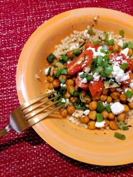 16. Chickpea-Powered Mediterranean Couscous with Zucchini and Grape Tomatoes (Hello Fresh)