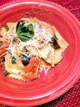 17. Creamiest Mushroom Ravioli with Zucchini and Heirloom Grape Tomatoes (Hello Fresh)