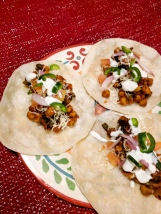 18. Chickpea Tinga Tacos with Monterey Jack Cheese, Poblano Pepper, and Lime Crema (Hello Fresh)
