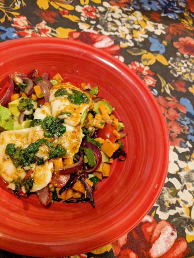 26. Grilled Cheese with Veggie Jumble with Cilantro Chimichurri(Hello Fresh)